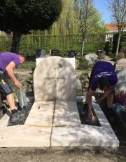 Renovatie grafmonument